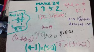 Solutions to making 24 using 1, 9, 5, 2